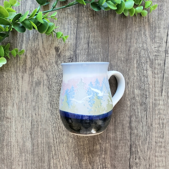 Watercolor Seaside Ceramic Pottery Mug